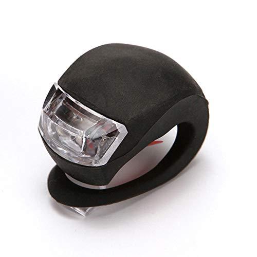 YANSHG® 2 Pack Mini Fahrrad vorne Rücklicht Silikon LED Blitz Sicherheitsleuchte Warnleuchte Fahrradzubehör Schwarz-Weiß Licht