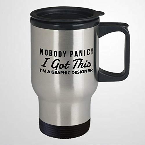 Divertido regalo de diseñador gráfico para diseñador gráfico, humor, taza de viaje, diseño gráfico, taza de viaje, diseño gráfico, taza de café, taza de té, regalo de vacaciones