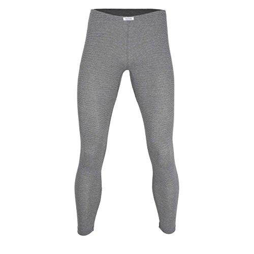 Ceceba Herren Lange Unterhose, Baumwolle, Polyester, Dunova, grau, Uni XXL