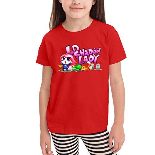 Kawaii Ldshadowlady (3) Camisetas gráficas para niñas Adolescentes, niños y niñas, Camiseta de Manga Corta, Camisetas de algodón, Camisetas para niños