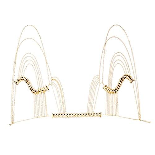 oshhni Collar de Cadena de Cuerpo Bohemio Collares Collar de Cadena de Hombro Decoraciones de Lujo