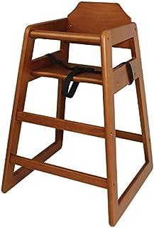 Bolero dl901alta silla, acabado de madera oscura