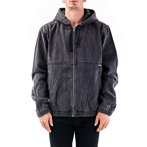 Stussy Luxury Fashion Herren 115532BLACK Schwarz Baumwolle Jacke | Herbst Winter 20