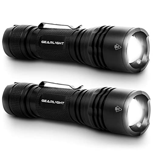 GearLight Tac LED Tactical Flashlight [2 Pack] - Single Mode, High Lumen, Zoomable, Water Resistant, Flash Light… 3
