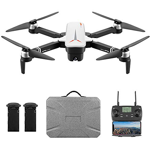 Goolsky 8811 RC Drohne mit Kamera 4K Drohne 5G WiFi Brushless RC Quadrocopter GPS Optischer Fluss Positionierung Wegpunkt Flug Palm Control Follow Me 2 Batterien Tragbarer Koffer