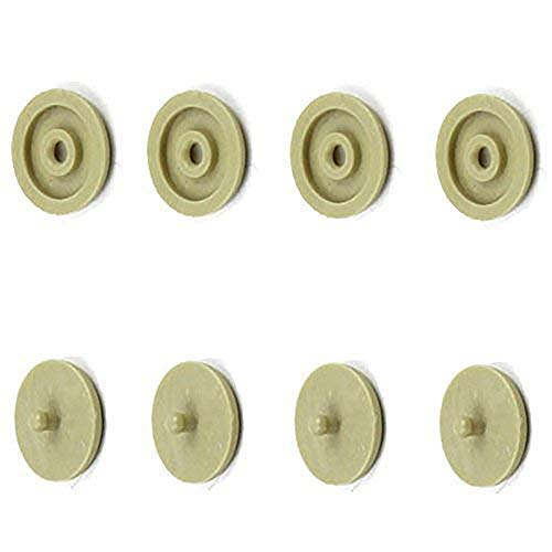 Seat Belt Stop Button Buttons Prevent Seat Belt Buckle from Sliding Down The Belt Set of 4 Plastic Seat-Belt Stopper Clips Snap-On System No Welding Required Beige