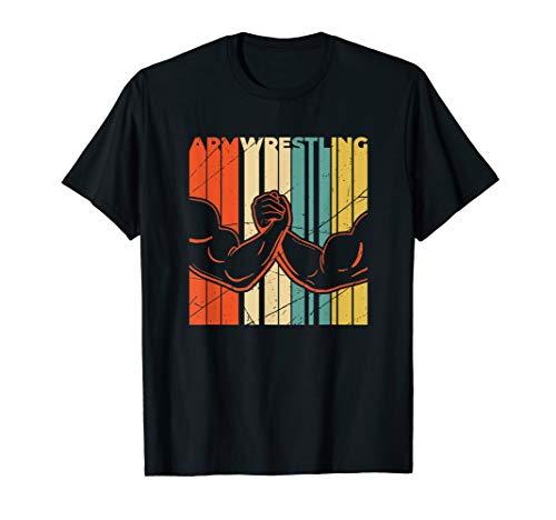 Armdrücken Armwrestling Arm Drücken Arm Wrestling Muskelman T-Shirt