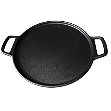 ROYAL KASITE Preseasoned Cast Iron Pizza Pan,14.8-Inch