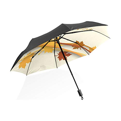 Paraguas Golf Las Mujeres Celebración Acción Gracias Feliz Oro Portátil Plegable Paraguas...