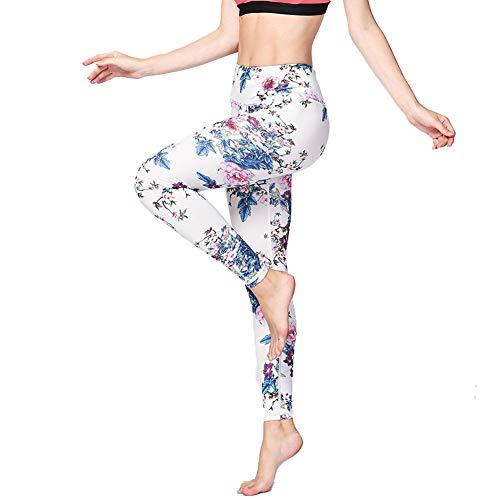 Feidaeu Frauen Hosen Sportbekleidung Fitness Yoga Strumpfhosen Sportbekleidung mit Einer Vielzahl von gedruckten Mustern Schlank Stretch Hose