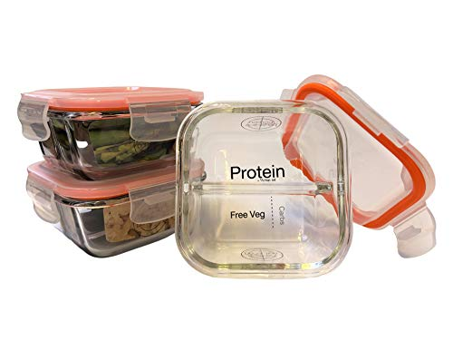 Bariatric Portion Control Lunchbox/Meal Prep Containers