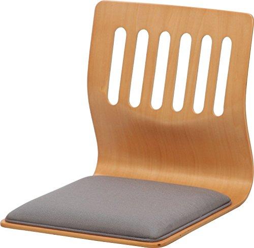 「クッション付き 和座椅子 PY-307BS 同色2脚セット」【IT-tm】ナチュラル(#9881653×2)サイズ:幅39.5×奥行52×高さ43cm