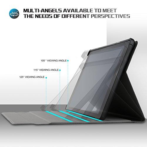 IVSO Tastatur Hülle für Huawei MediaPad M5 10.8, [QWERTZ Deutsches Layout] Keyboard Case, SmartShell Tastatur für Huawei MediaPad M5 10.8 Pro / M5 10.8 Zoll 2018 Modell, Schwarz - 4