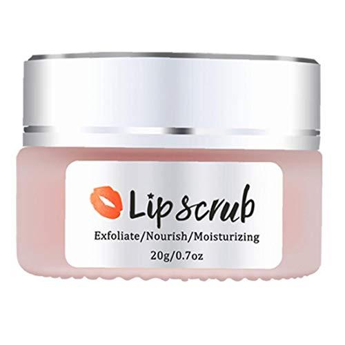LAANCOO Scrub Exfoliante Labio seco Tratamiento de Labios Embalaje Libre Lip Care Bálsamo Crema Suave Natural Tratamiento de Labios de Mujer de los Hombres Exfoliante de Labios