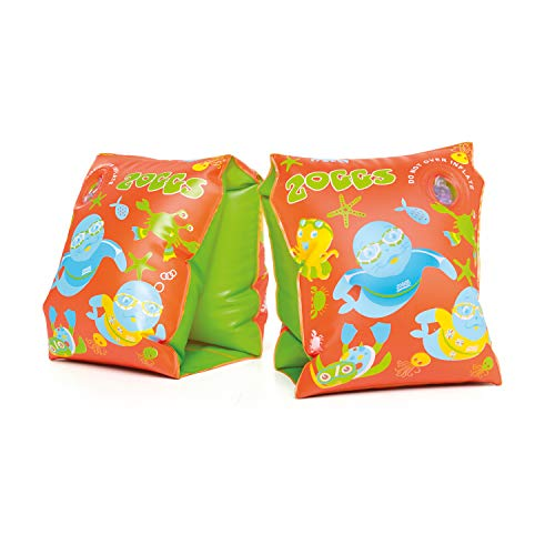 Zoggs Gonflable Zoggy brassards de Natation Jeunesse Unisexe, Orange/Vert, 3-12 Mois / 0-11 kg