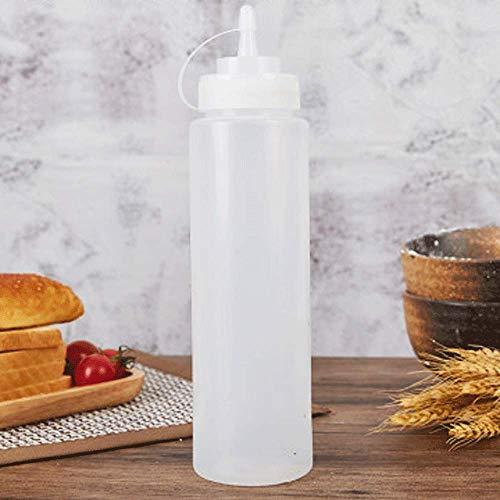 QAWS Flasche Gewürzspender Condiment Ketchup Quetschflasche Kappe Drücken Sie Sauce Flasche Tomatensalat Dressing, Home Kitchen Sauce Sauce Sauce Flasche 800Ml