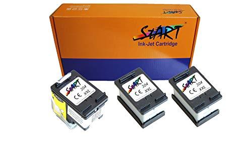 3 XL Ersatz Tintenpatronen kompatibel zu HP 304XL Schwarz