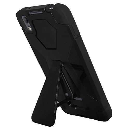 Amzer Hybrid-Schutzhülle, zweischichtig, mit Ständer für BlackBerry DTEK50 - Schwarz