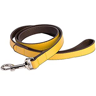 The Dog Company DO&G Leather Collection Lead, Yellow