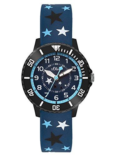 s.Oliver Time Jungen Zeitlernuhr Quarz Uhr mit Silikon Armband SO-3407-PQ
