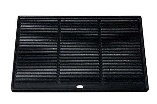 CLP Gusseisen-Grillplatte I Für Gasgrill, Kohlegrill & Elektrogrill, Farbe:anthrazit, Größe:48.5x32 cm