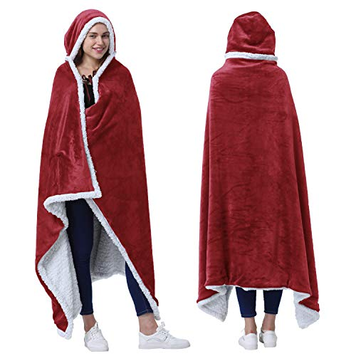 Catalonia Hooded Blanket Poncho | Wearable Blanket Wrap with...
