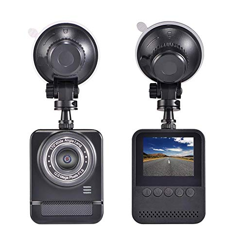 Sunneey 2K / 1080P / WiFi HD-sensor rijregistratie, parkeerbewaking, bewegingsmelder voor cyclische opname, 170 ° groothoek-camera/VGA achteruitrijcamera zwart