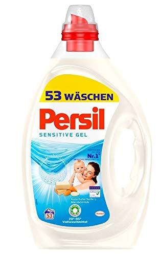 Persil Sensitive Gel (2 x 53 Waschladungen), ECARF-zertifiziertes Sensitive Waschmittel für Allergiker und sensible Haut, duftet nach Aloe Vera & natürlicher Seife, 20 °C - 95 °C