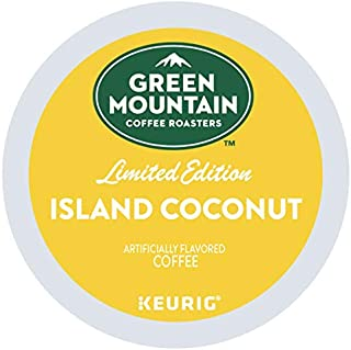 Green Mountain Coffee Roasters Island Coconut, Single Serve Coffee K-Cup Pod, Flavored Coffee, 72 Count
