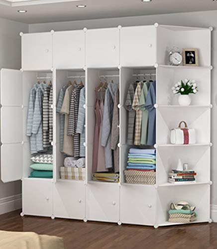 llzshoutao kub vikbar bärbar platsbesparande multifunktion robust förvaring av plast garderob bokhylla @20-4 hörnskåp