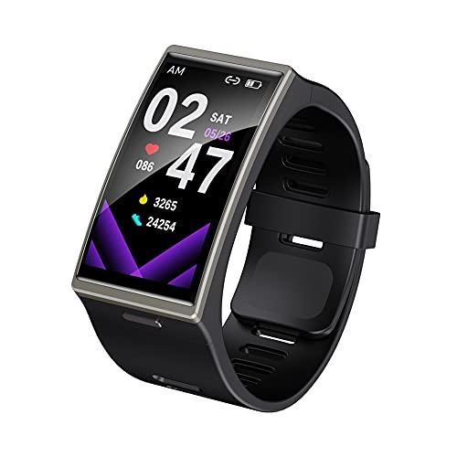 Smart Watch Men 1.9 Pulgadas 170 * 320 SmartWatch 2021 para Android iOS IP68 Resistentes a Prueba de Agua Bluetooth 5.0 Relojes Deportivos (Color : Black)