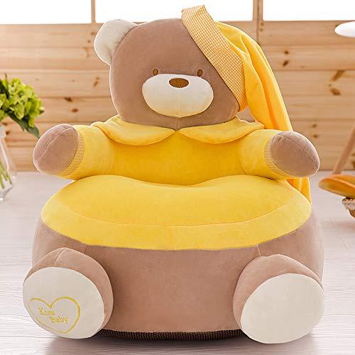 Mini Kinderstuhl Armchair Comfy Baby Kindersitz Premium Pearl Cotton Abnehmbarer Waschbarer Bezug Eco,Yellowbear