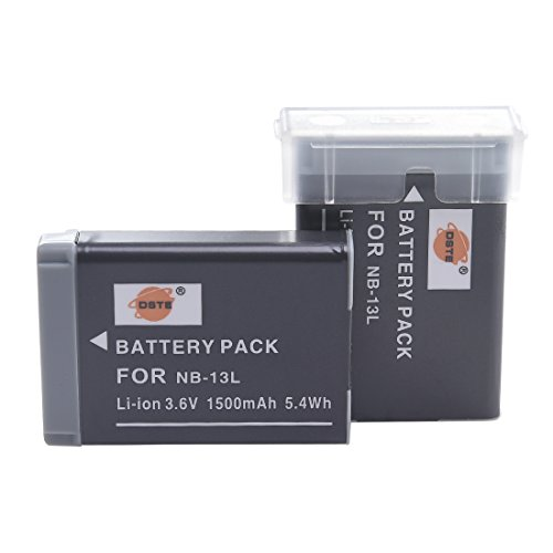 DSTE 2-Pack Ersatz Batterie Akku for Canon NB-13L PowerShot G7X Kamera