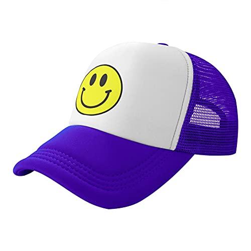 Adult Trucker Hat Smiley Face Print Baseball Cap...