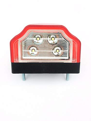LED Kennzeichenleuchte, Nummerschildbeleuchtung, Kennzeichenbeleuchtung für Anhänger, Baumaschinen, Wohnmobile, Trailer, Wohnwagen, LKW …