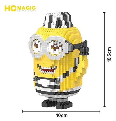 Zenghh Minions Building Blocks, Hand Heben Puppe Nano Micro Brick Diamant-3D Puzzle Spielzeug, 1716pcs Modell DIY Spielzeug, Kunsthandwerk Kollektionen Made by Adolescent Erwachsene und Kinder