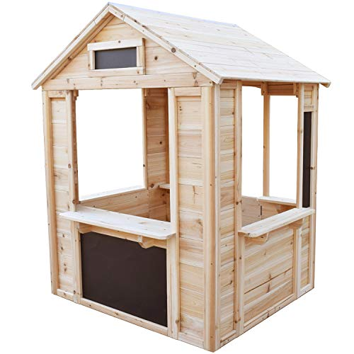 Big Game Hunters Café Shop Wooden Playhouse – Play Shop Market Stall (Playhouse with Floor)