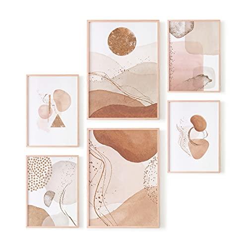 Ohbimba – Laminas Decorativas para Enmarcar (Sin Marco) Posters de Pared para Decoración Salón Moderno, Cuadros Calidos Habitación Dormitorio Salon – Imágenes Estilo Femenino - Tamaño A3 y A4