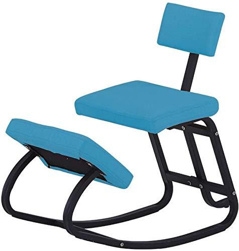 GWFVA Silla Mecedora para arrodillarse, Taburete ergonómico para Rodillas, Postura, respaldos ortopédicos, Alivio del Dolor de Hombros, Columna Vertebral, para Muebles de Oficina, reposapiés