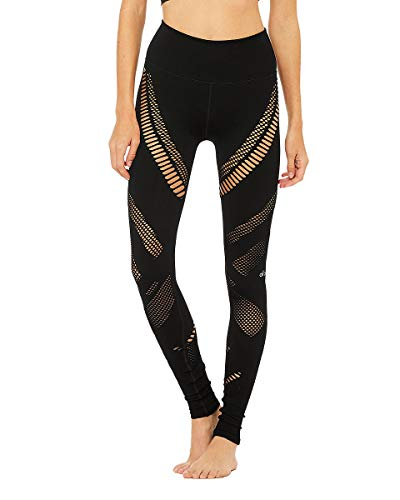 Alo Yoga Damen Radiance Seamless 2.0 Leggings, schwarz, Mittel