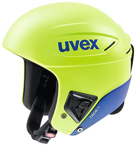 Uvex Race + Skihelm, Lime-Cobalt mat, 56-57 cm