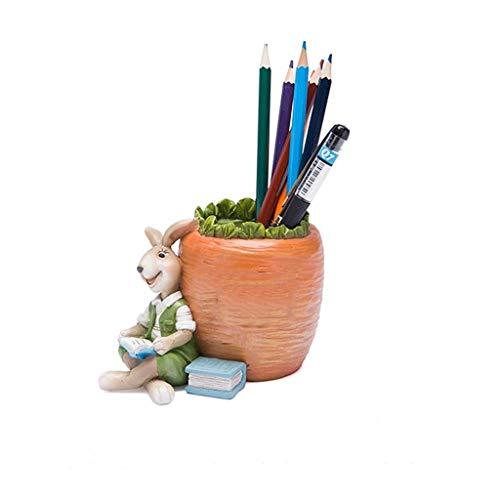 LTCTL Portalápiz Resina Tutu Titular de la Pluma, niños Desktop Pen Titular, por la Oficina Estudio Casa y jardín Organizador de Escritorio, for niñas Boy contenedor de Pluma (Color : Orange)