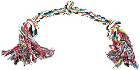 Monster 3 FT Dog Rope Chew Tug Toy Natural Cotton Rope Safe Healthy Teeth Multi Colored Non product image