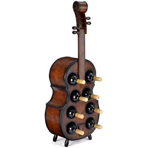 ZRXRY Weinregal aus Holz, Cello Shaped Weinflaschenhalter, Freistehende Weinregal für Weinlagerung, großes Geschenk