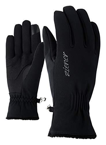 Ziener Damen IBRANA TOUCH LADY glove multisport Freizeit- / Funktions- / Outdoor-Handschuhe | winddicht, atmungsaktiv, schwarz (black), 6.5