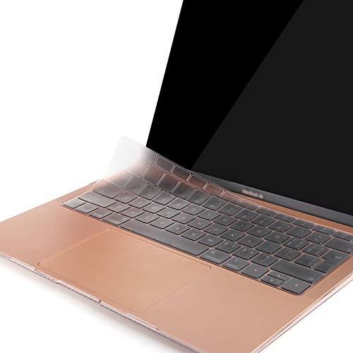 BELK TPU Cubierta de Teclado Compatible con 2017 2016 MacBook Pro 13 Pulgadas A1708 & 2017-2015 MacBook 12 Pulgadas A1534 sin Touch Bar, Ultra Delgado Protector Funda Teclado, Claro (EU Layout)
