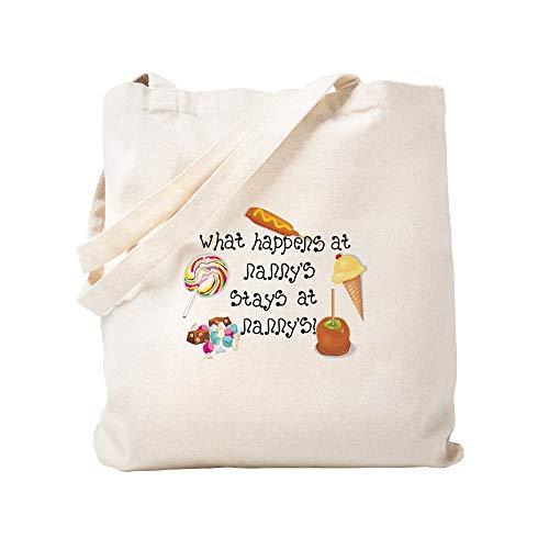 CafePress–What Happens At Nanny 's. Tasche–Leinwand Natur Tasche, Reinigungstuch Einkaufstasche S khaki