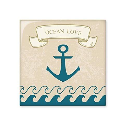 DIYthinker Anker Oceaan Liefde Zee Zeilen Patroon Glanzende Keramische tegel Badkamer Keuken Wandsteen Decoratie Craft Gift Small