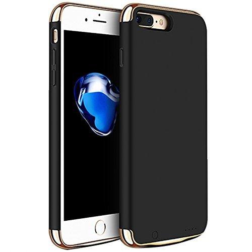 Idealforce iPone 6 Plus /7 Plus /8Plus - Carcasa con batería cargadora, 4000 mAh, batería externa externa para iPone 6 Plus/iPone 7 Plus/iPone 8 Plus (negro)