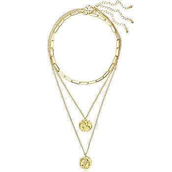 LILIE&WHITE Gold Coin Necklaces for Women in Flying Horse and Owl Cute Simple Dainty Neckalce Layered Necklaces Chokers Jewelry